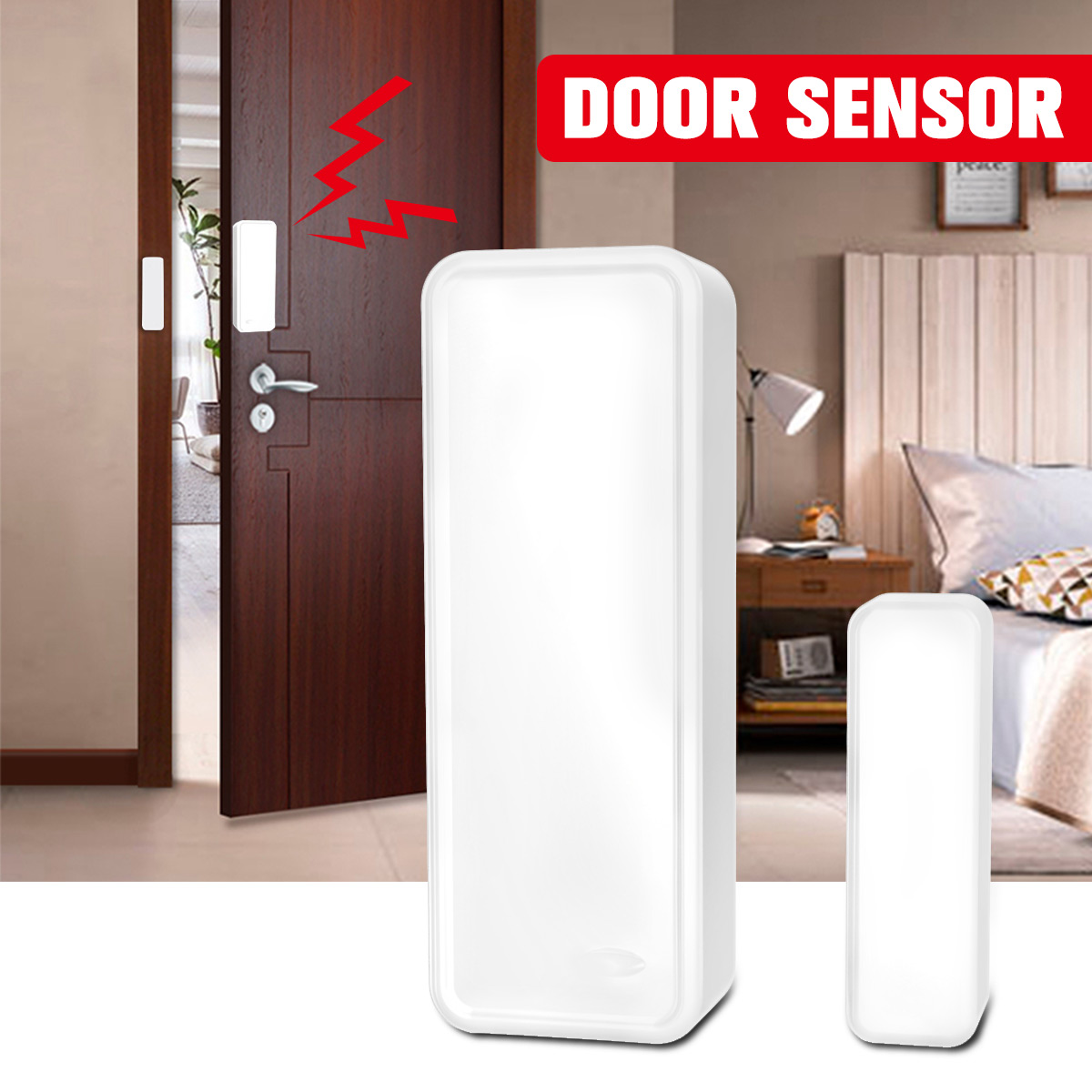 Wireless Door Window Sensor Magnetic Strip GS-WDS07 433MHz Door Sensor Home Office Security Entry Alarm Warning System