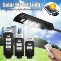 20-90 W LED de energía Solar de la pared la luz de la calle iluminación impermeable lámpara de Control remoto alimentado al aire libre jardín Patio
