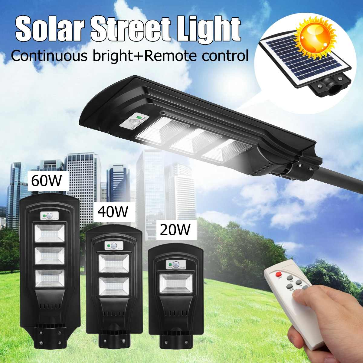20-90W Solar Power LED Wall Street Light Lighting Waterproof Remote Control Lamp Powered for Outdoor Garden Courtyard20-90W Solar Power LED Wall Street Light Lighting Waterproof Remote Control Lamp Powered for Outdoor Garden Courtyard