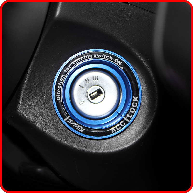 A Little Change Aluminum Car Ignition Key Switch Ring Cover Hole Circle Stickers For Ford Focus 2 3 4 MK2 MK3 MK4 Accessories