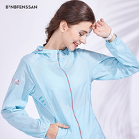 Outdoor Sun Protection hood jacket women Clothing Ultra thin Waterproof Breathable Cycling Clothes Quick drying Fishing 1909b