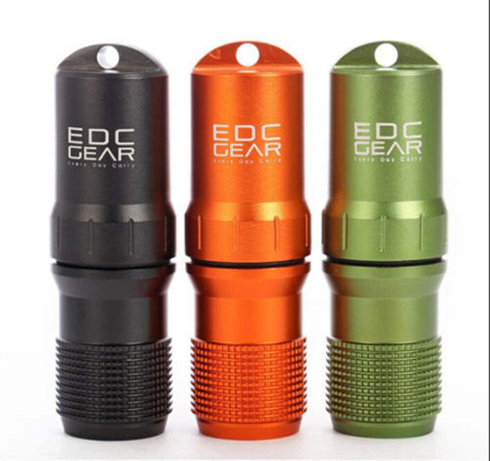 Emergency case waterproof Survive Container outdoor hike Tool Travel kit EDC pill capsule bottle camp medicine match seal