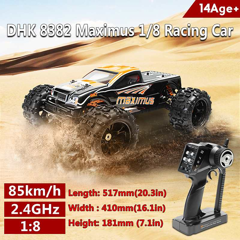 DHK 8382 Maximus 1/8 120A 85 KM/H 4WD KV2030 moteur sans balai RC Car Pour Le Cadeau D'enfants jouets pour adultes
