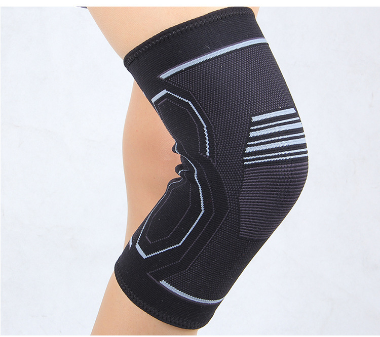 1 Piece Sports Knee Brace Compression Sleeve Elastic Non-Slip 3D Circular Knitting Provides Fitness Running Cycling Knee Pad