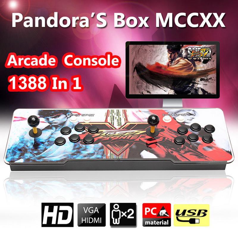 все цены на Pandora Box 6s 1388 In 1 Retro Video Games Double Stick Arcade Console Light Classic Boxing Game