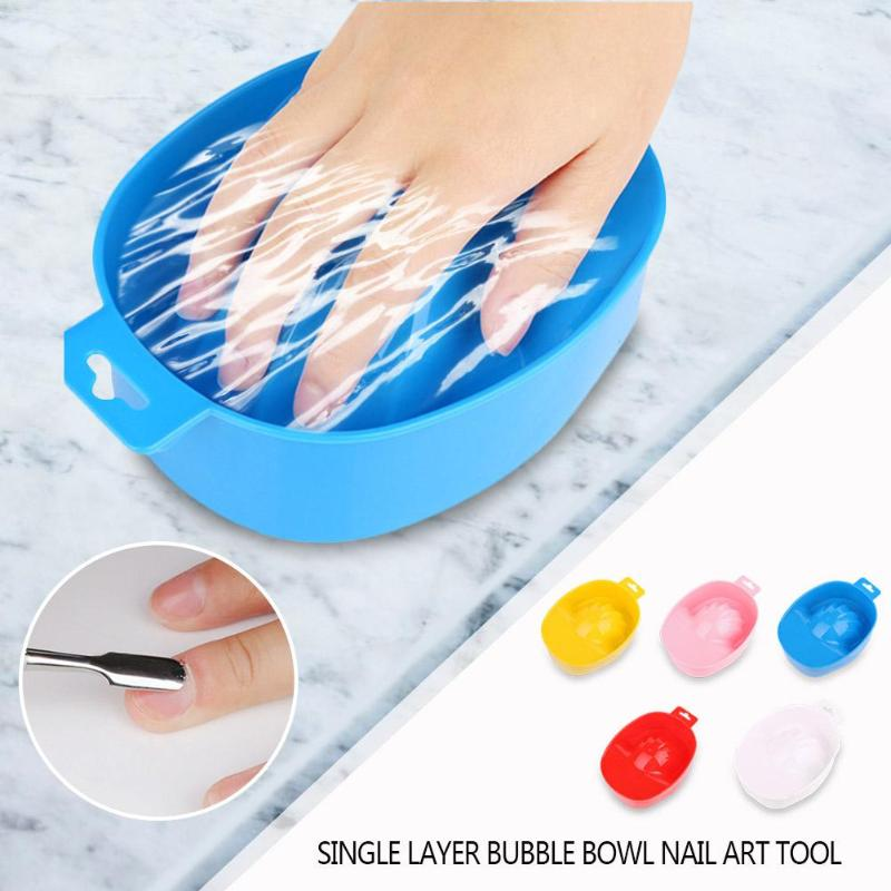 Portable 1pc Nail Art Hand Polish Remover Soak Bowl DIY Salon Nail Art Soak Bowl Off Hand Spa Bath Treatment Manicure Nail Tools