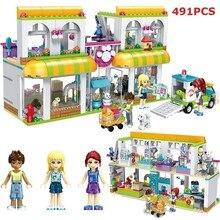 491pcs City Pet Center Building Bricks Compatible Legoingly Building Blocks Girls Friends