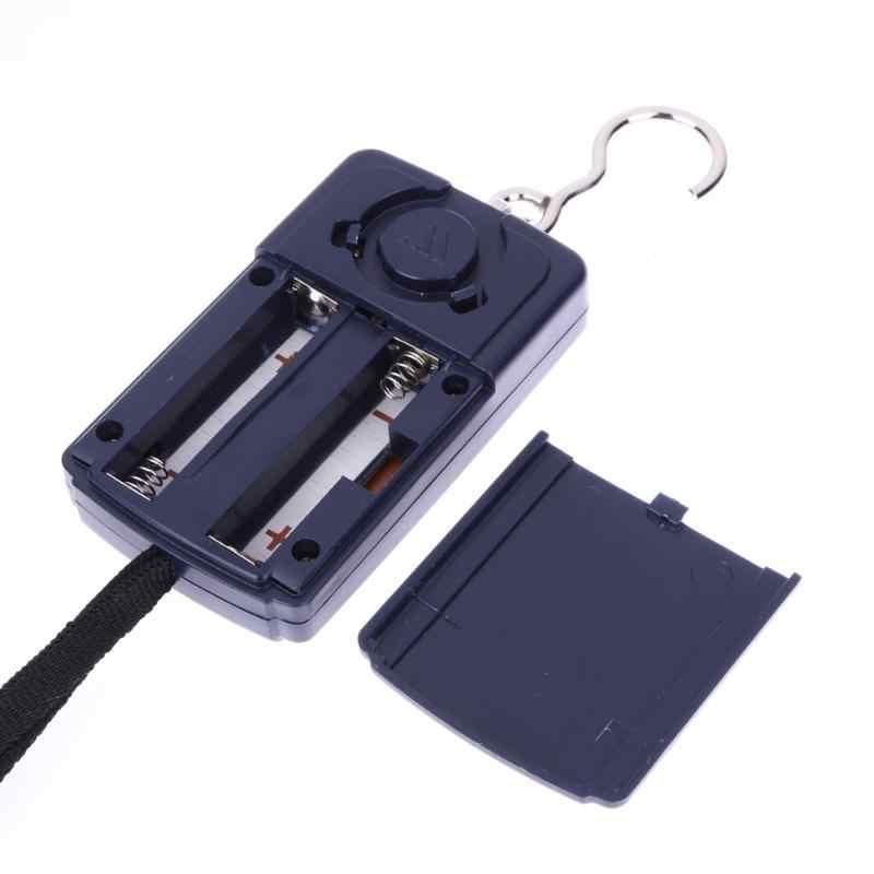 40 кг/10g Портативный электронные цифровые карманные весы с крючком Рыбалка висит весы для багажа мини светодиодный кухонные весы аксессуар для подвешивания