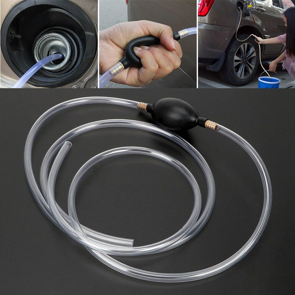Otomobiller ve Motosikletler'ten Yakıt Pompaları'de PVC boru yakıt tasarrufu sifon oto aksesuarları araba yakıt pompası benzin dizel sıvı manuel pompa su yağ Transfer pompası title=