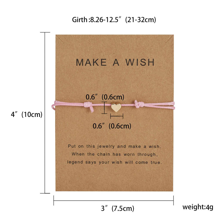 RINHOO zrób życzenie Mini kwiat Charm bransoletka Femme regulowany szczęście czerwony sznurek bransoletki kobiety dzieci życzenie biżuteria karty prezent