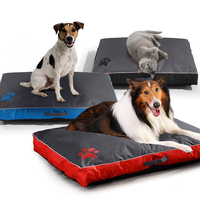 Washable Dog Bed Pet Soft Mat for Large Dog Cushion Kennel Paw Design Pet Cozy Sofa Puppy Mat Cat Bed Labrador Sofa Pet Bedding