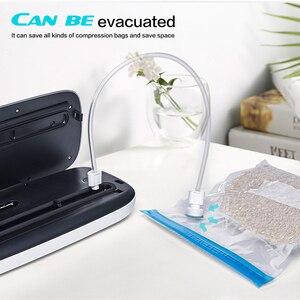 Image 5 - מטבח ואקום מזון אוטם עם 10PCS מזון חותם שקיות אוטומטי חשמלי מזון אוטם ואקום אריזה מכונת 220V 110V
