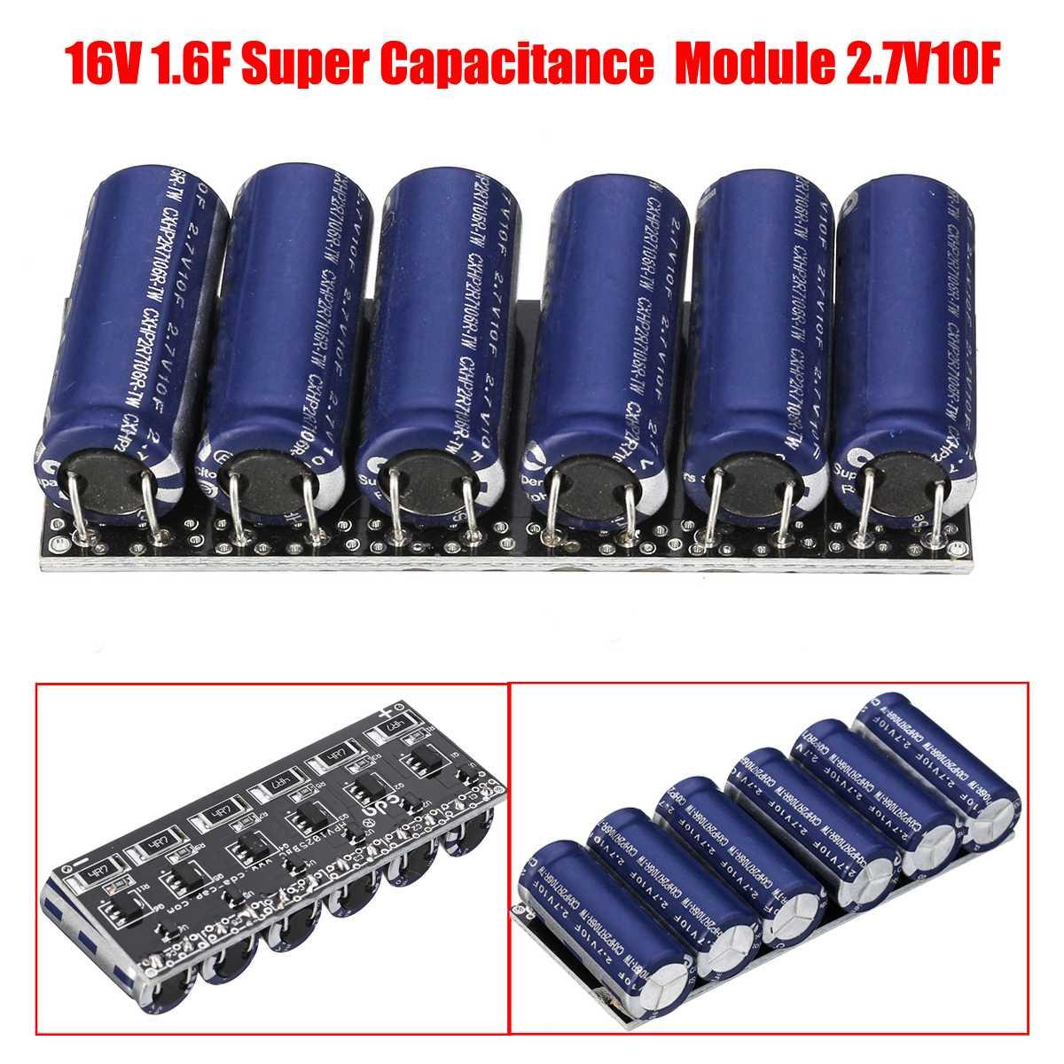 16V 1 6F Farad Super Capacitor Module 2 7V 10F Super Capacitors With  Protection Board