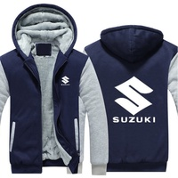 Hot New Suzuki Motorcycle Jacket Hoodie Winter Fleece Sweatshirts Unisex Thicken Coat