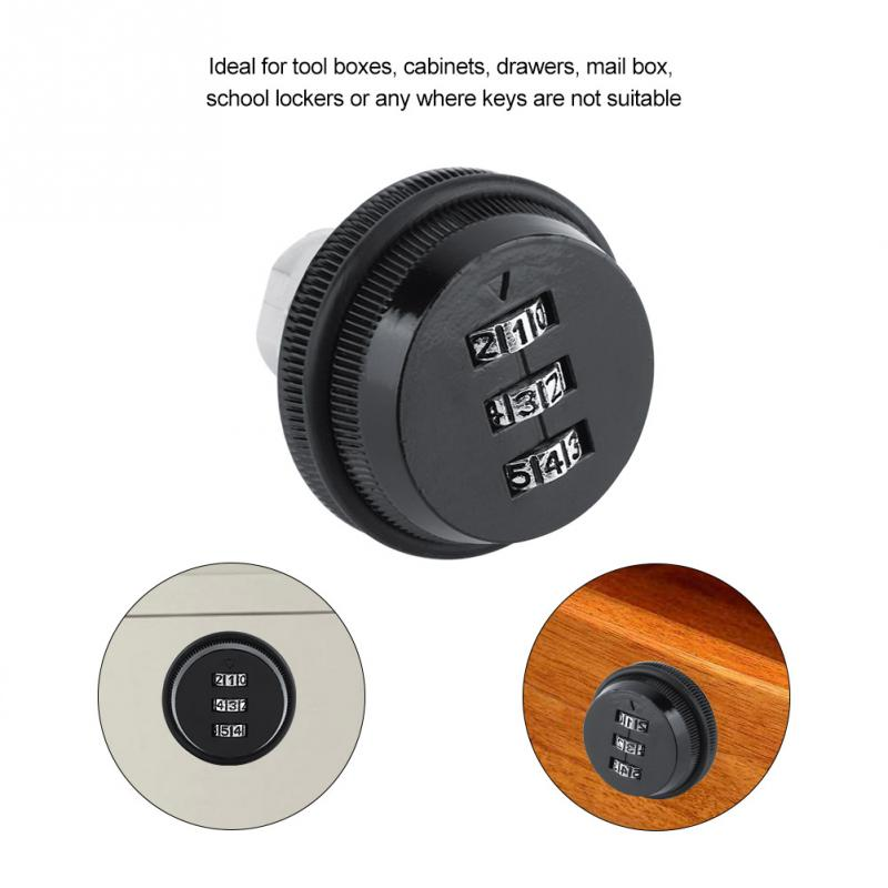 20mm Fdit Digital Zinc Alloy Code Combination Cam Cabinet Convenient Password Safe Lock with Keys for Security and Safety