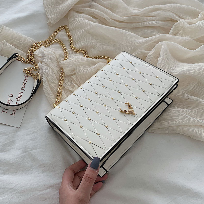 Luxury Brand Crossbody Bags Women 2019 High Quality PU Leather Female Designer Handbag Ladies Chain Rivet Shoulder Messenger Bag