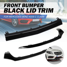 Front Left/Right/Center Car Front Bumper Lip Lower Splitter Cover Molding Trim For Mercedes For BENZ W205 C300 C400 C63 For AMG