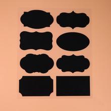 40 шт. 5 компл. Классная Доска стикер Ремесло кухня банки Органайзер этикетки доска меловая наклейка черная доска