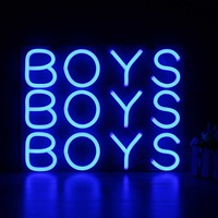 10Inch 25x25cm BOYS Neon Sign Light Beer Bar Pub Party Decoration Home Room Wall Ornaments Gifts Lighting US Plug