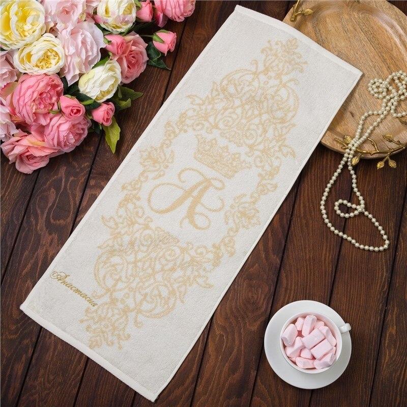 Фото - Towel именное Terry embroidery Anastasia 30х70 cm 100% cotton, 420гр/m2 4072496 young time travel portable thickening cotton compressed towel white l