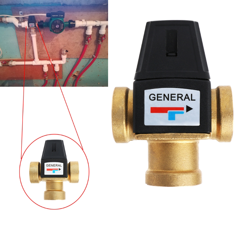Solar Water Heater Valve 3-Way Thermostatic Mixer Valve 3 Way Male Thread Thermostatic Mixing Valve Bathroom Accessories
