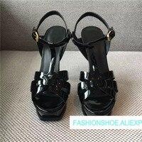 Лидер продаж 2018 г. Классические летние женские сандалии женская обувь с Т образным ремешком на высоком каблуке дань дизайнерские женские са