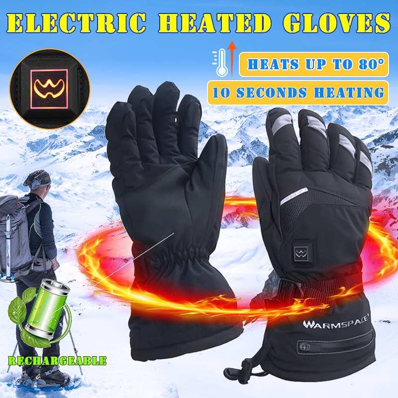 Зимние электрические термальность Прихватки для мангала USB руки теплые перезаряжаемые перчатки с подогревом на батарейках Велоспорт Мотоц...