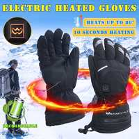 Winter Electric Thermal Gloves USB Hand Warmer Rechargeable Battery Heated Gloves Cycling Motorcycle Bicycle Ski Gloves