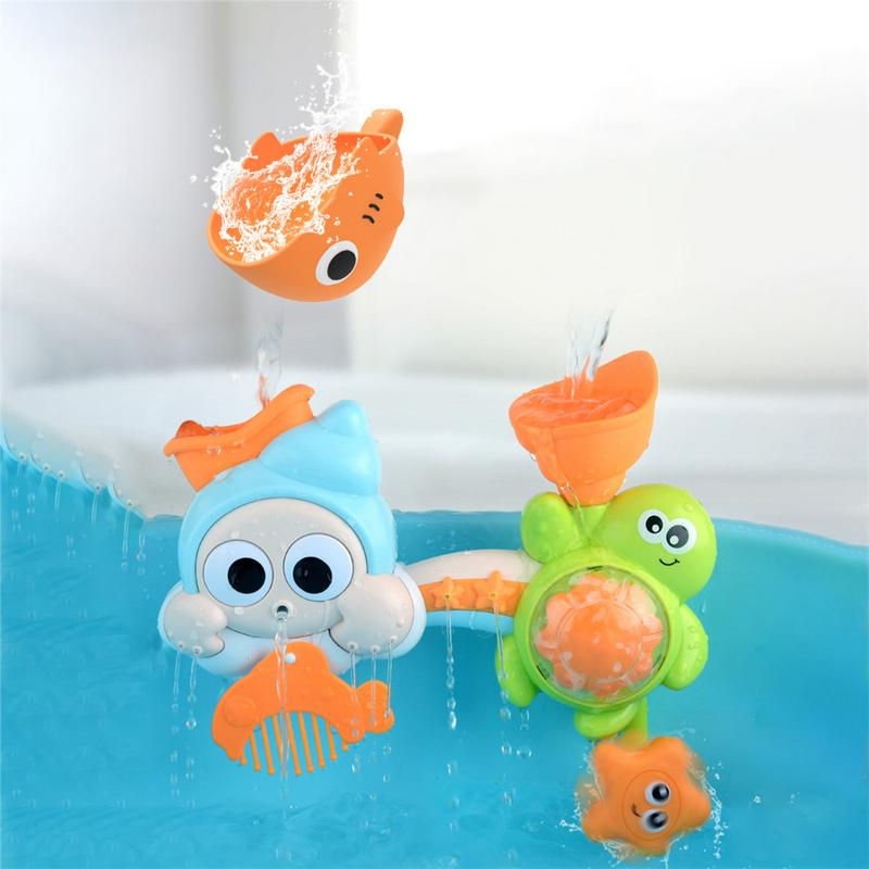Baby Bath Toy Mobile Waterfall Water Spray Toy For Children Shower Toy Model For Children Under 3 Years Old Gifts