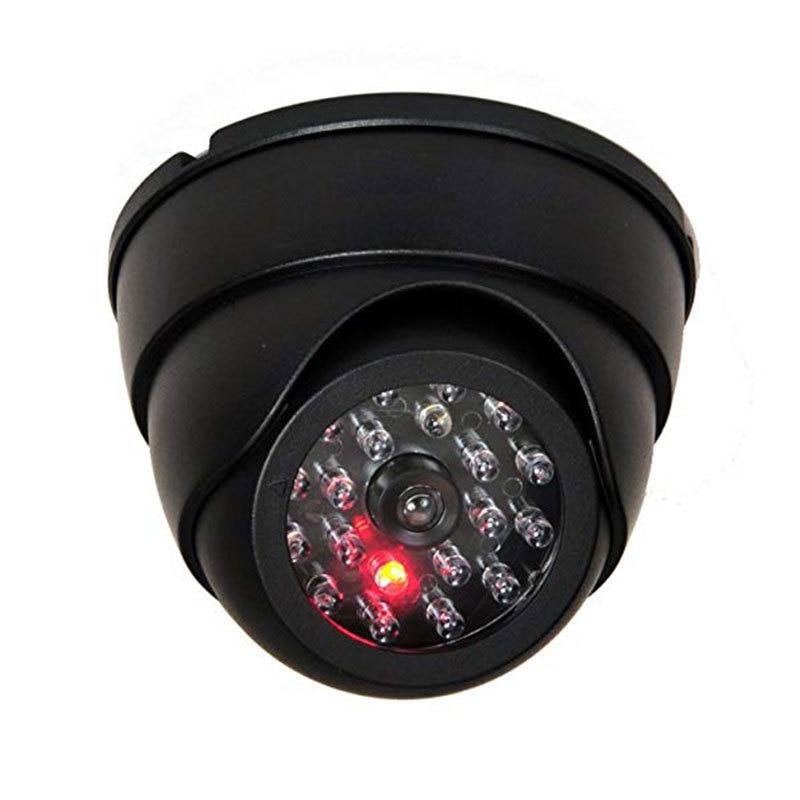 G-kellway CCTV Fake Camera Family Surveillance Security Dome Mini Camera Black 26 Flashing LED Light Home Simulation Camera