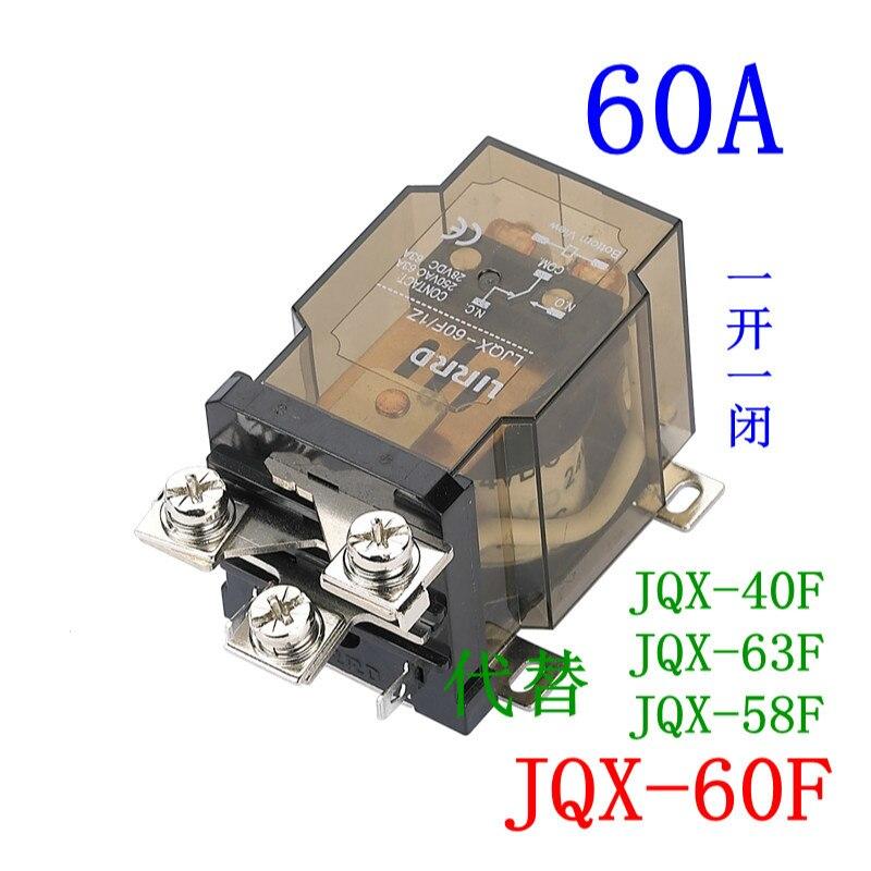 JQX-60F-1Z DC12V//24V AC 110V//220V 60A SPDT General Purpose Power Relay 5 Pin