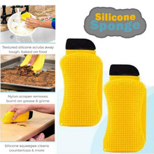 Magic 3 In 1 Silicone Sponge Clean Brush Hero Dish Washing Eco-Friendly Scrubber Cleaning For Multipurpose Kitchen Dropshipping