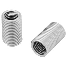 10Pcs Stainless Steel Wire Thread Insert helical screw Wire Sleeve Inserts Thread Repair Kit Fastener M8x1.25x3D ferreteria Hot m11 1 25p 50pcs 1d 1 5d 2d 2 5d 3d each 10pcs metric thread repair insert kit sus304 thread series wire thread inserts