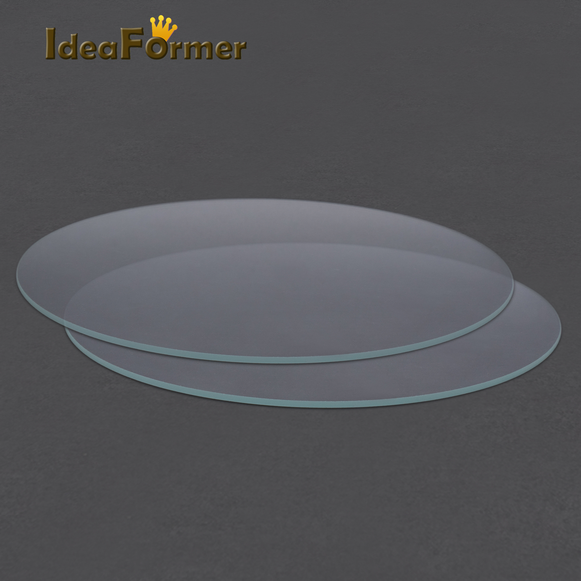 Round Borosilicate Glass Tempered Glass Plate Flat Transparent Diameter 200mm/220mm/240mm For Kossel Delta 3D Printer Heated Bed