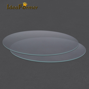 Round Borosilicate Glass Tempered Glass Plate Flat Transparent Diameter 200mm/220mm/240mm for Kossel Delta 3D Printer heated bed image