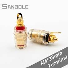 4MM Banana Plug Terminal Binding Post for Speaker Pure Copper Gold-plated Power Amplifier Horn Connection