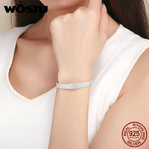 Image 4 - سوار WOSTU عالي الجودة من الفضة الإسترلينية عيار 925 أساور الصداقة للنساء مجوهرات فاخرة CQX001
