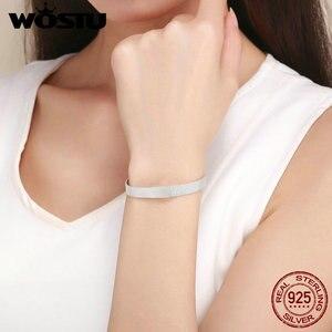 Image 4 - WOSTU Top Quality 925 Sterling Silver Metropolitan Style Bracelets Friendship Bangles For Women Luxury Jewelry CQX001