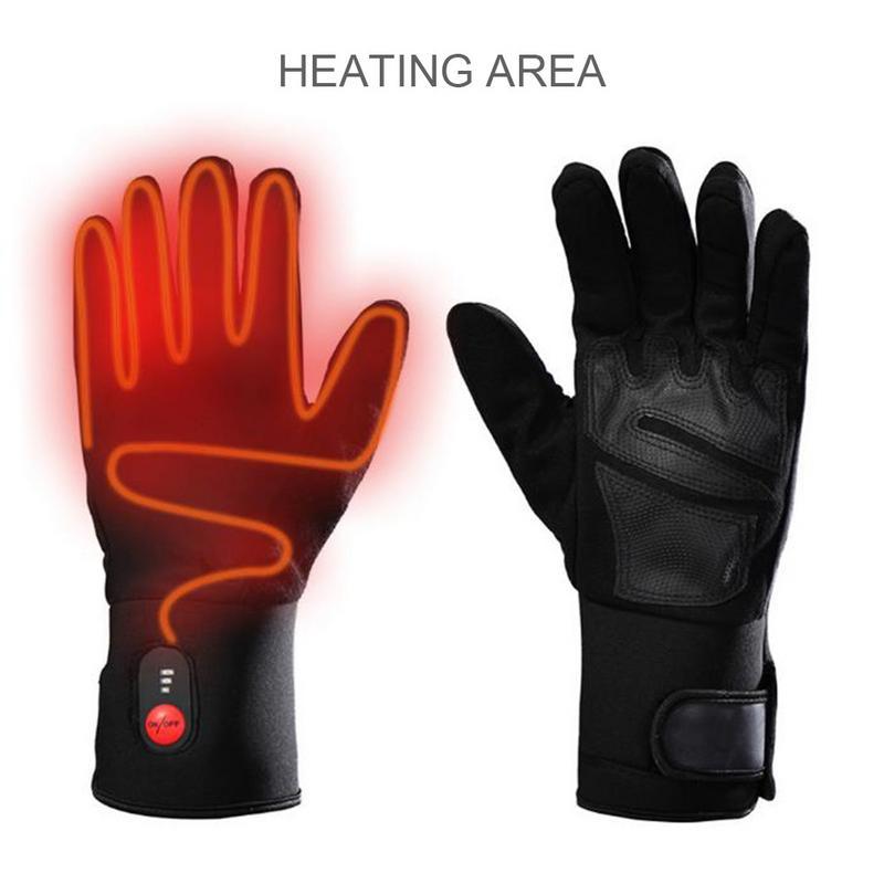 Gants chauffants électriques rechargeables hiver chauffage électrique homme et femme gants antidérapants pour moto équitation ski