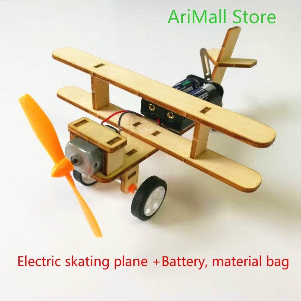Gutherzig Hydraulische Mechanische Arm Diy, Materialien, Mechanische Modell, Elektrische Skating Flugzeug + Batterie, Material Tasche