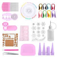 Quilling Paper Craft Rolling Kit Slotted Tools Strips Tweezer Pins Slotted Paper Quilling For Decoration Tools Artwork