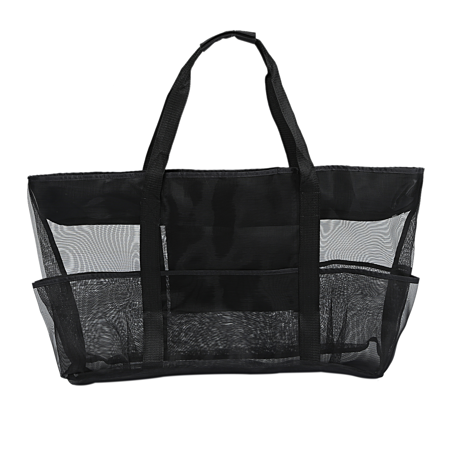 XXL Mesh Beach Bag Family Mesh Beach Bag Mesh Bag For Sand Toys, Extra Large Family Mesh Beach Bag Tote, Black