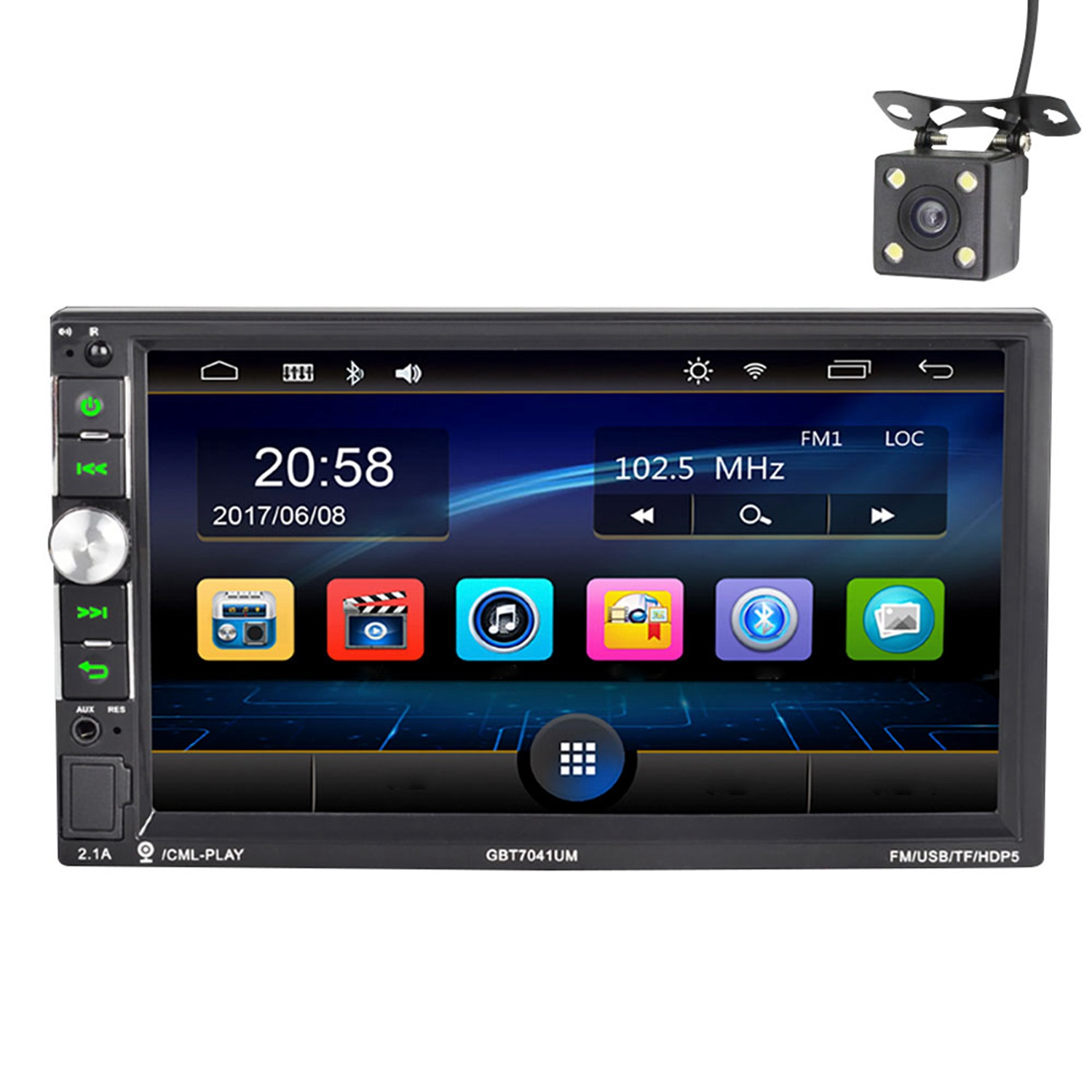 Unterhaltungselektronik 7041car Video Player 7 Zoll Hd Player Mp5 Presse Digital Display Bluetooth Multimedia Usb Auto Radio Auto Radio üBerlegene Materialien Tragbares Audio & Video