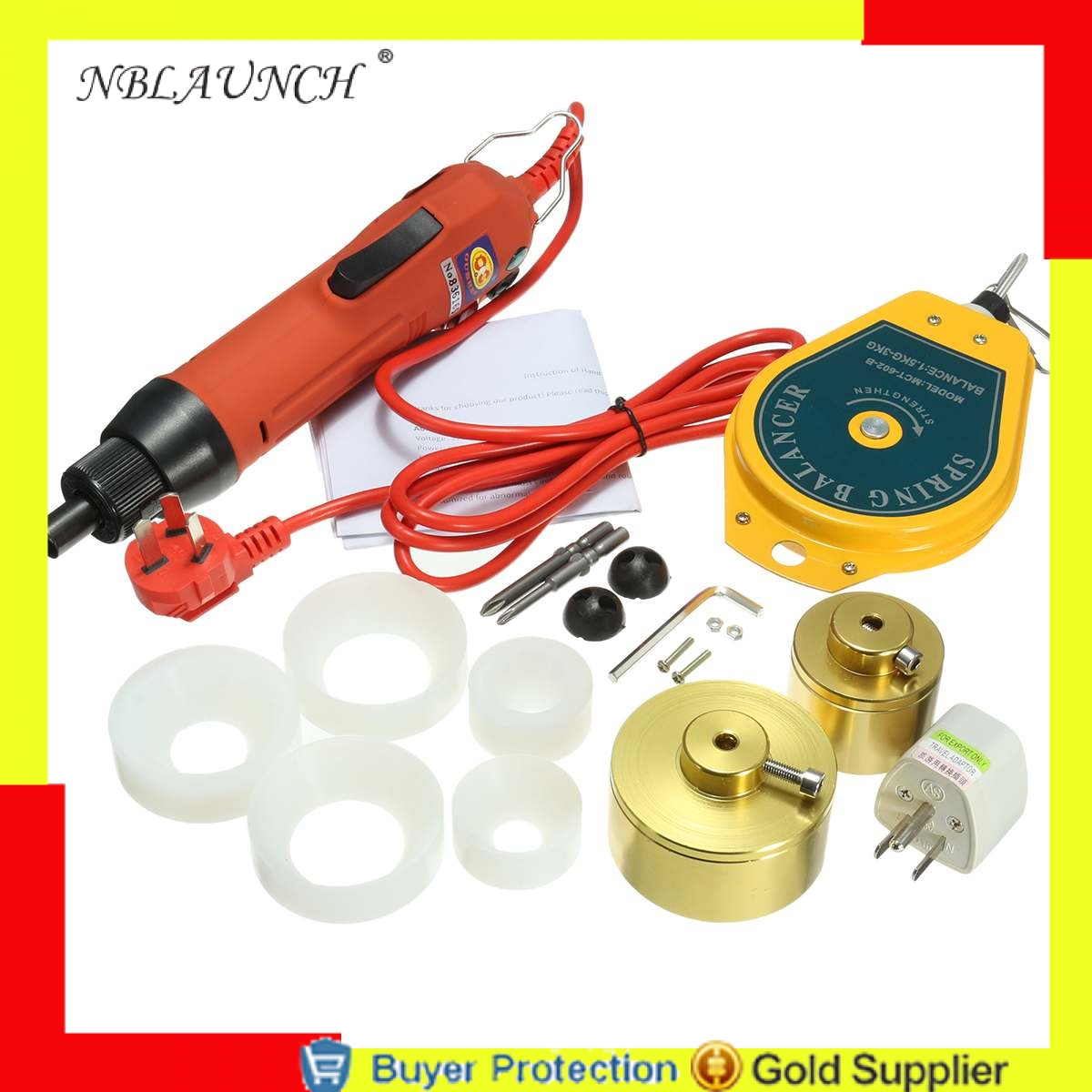 Home Appliances Food Processor Parts Free Shipping Electrical Capping Machine For Screw Caps