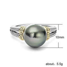 925 Silver Jewelry Pearl Ring Stainless
