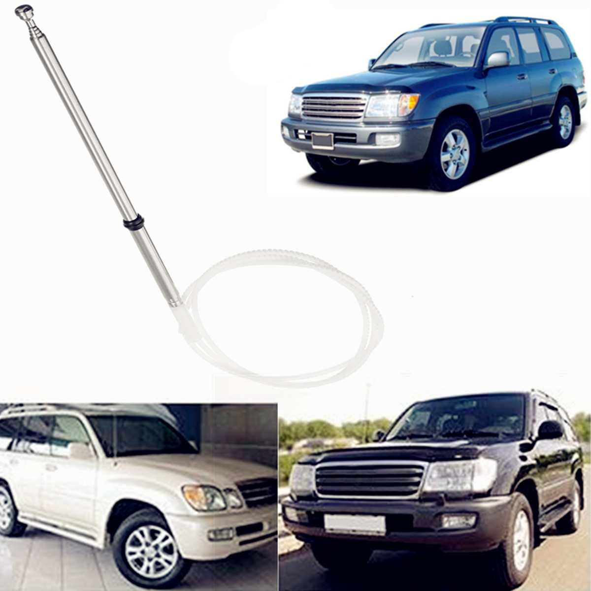 New Replacement AM FM Antenna Aerial Power Antenna Mast For <font><b>Toyota</b></font> Land Cruiser 1998-2007 86337-60151 image