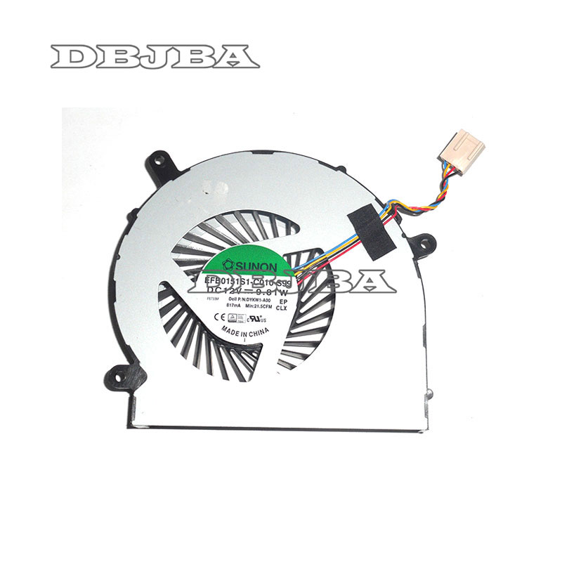 New For Dell Inspiron 24 5459 All-In-One Desktop CPU Cooling Fan TXA01 DYKW1New For Dell Inspiron 24 5459 All-In-One Desktop CPU Cooling Fan TXA01 DYKW1