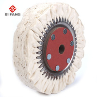 8inch Cotton Airway Buffing Wheel Metal Polishing Wheel Abrasive Tools Compound Tool Cotton Airway Buffing Wheel 66Ply