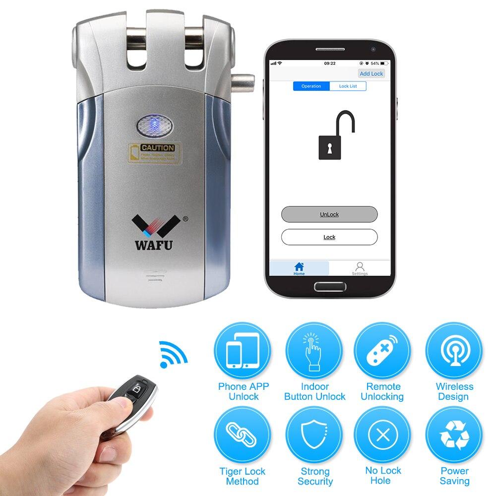 WAFU WF 018U Wireless Remote Control Lock Security Invisible Keyless Intelligent Lock Smart Door Lock iOS