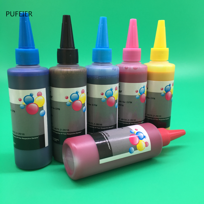 100ML x 6 Bottles T2421-T2426 T2431-T2436 Pigment Ink For Epson XP-750 XP-850 XP-950 XP750 XP850 XP950 Inkjet Printer100ML x 6 Bottles T2421-T2426 T2431-T2436 Pigment Ink For Epson XP-750 XP-850 XP-950 XP750 XP850 XP950 Inkjet Printer
